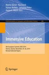 Immersive Education 1st Edition 9783319220161 3319220160