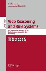 Web Reasoning and Rule Systems 1st Edition 9783319220024 3319220020