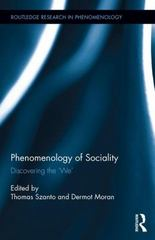 Phenomenology of Sociality 1st Edition 9781138918795 1138918792