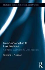 From Conversation to Oral Tradition 1st Edition 9781138101043 1138101044