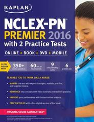 NCLEX-PN Premier 2016 with 2 Practice Tests 1st Edition 9781506202174 1506202179