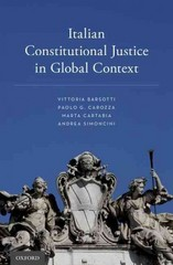 Italian Constitutional Justice in Global Context 1st Edition 9780190214562 0190214562