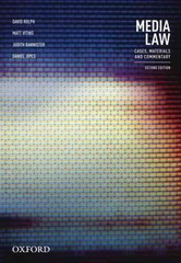 Media Law 2nd Edition 9780195598483 0195598482