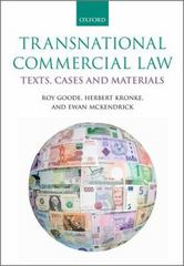Transnational Commercial Law 2nd Edition 9780198735441 0198735448