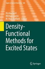 Density-Functional Methods for Excited States 1st Edition 9783319220819 3319220810