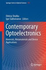 Contemporary Optoelectronics 1st Edition 9789401773157 9401773157