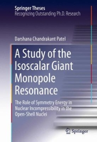 A Study of the Isoscalar Giant Monopole Resonance 1st Edition 9783319222073 3319222074