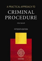 A Practical Approach to Criminal Procedure 15th Edition 9780191074622 0191074624