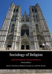 Sociology of Religion 3rd Edition 9781442216921 1442216921