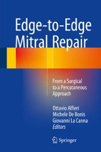 Edge-to-Edge Mitral Repair 1st Edition 9783319198934 3319198939