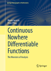 Continuous Nowhere Differentiable Functions 1st Edition 9783319126708 3319126709