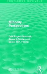 Minority Perspectives 1st Edition 9781138121195 1138121193