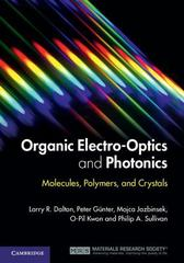 Organic Electro-Optics and Photonics 1st Edition 9780521449656 0521449650
