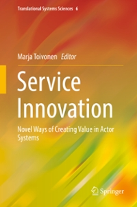 Service Innovation 1st Edition 9784431549222 4431549226