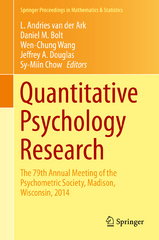 Quantitative Psychology Research 1st Edition 9783319199771 3319199773