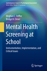 Mental Health Screening at School 1st Edition 9783319191713 3319191713