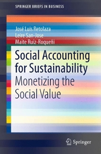Social Accounting for Sustainability 1st Edition 9783319133775 3319133772