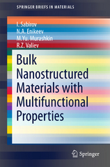 Bulk Nanostructured Materials with Multifunctional Properties 1st Edition 9783319195995 3319195999