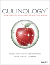 Culinology 1st Edition 9781119034254 1119034256