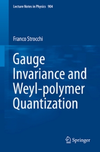 Gauge Invariance and Weyl-polymer Quantization 1st Edition 9783319176956 3319176951
