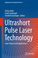 Ultrashort Pulse Laser Technology 1st Edition 9783319176598 3319176595