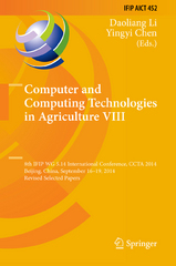Computer and Computing Technologies in Agriculture VIII 1st Edition 9783319196206 3319196200