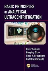 Basic Principles of Analytical Ultracentrifugation 1st Edition 9781498751155 1498751156