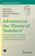 Advances in the Theory of Numbers 1st Edition 9781493932009 1493932004