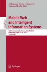 Mobile Web and Intelligent Information Systems 1st Edition 9783319231433 331923143X