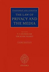 Tugendhat and Christie: The Law of Privacy and The Media 3rd Edition 9780199685745 0199685746