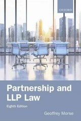 Partnership and LLP Law 8e 8th Edition 9780198744467 0198744463