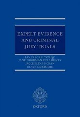 Expert Evidence and Criminal Jury Trials 1st Edition 9780198746348 0198746342