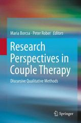 Research Perspectives in Couple Therapy 1st Edition 9783319233055 331923305X