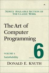 The Art of Computer Programming, Volume 4, Fascicle 6 1st Edition 9780134394541 0134394542