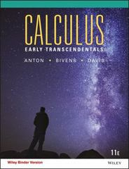 Calculus Early Transcendentals 11th Edition 9781118883761 1118883764
