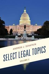 Select Legal Topics 1st Edition 9780761866367 0761866361