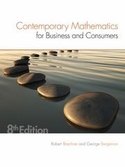 Contemporary Mathematics for Business & Consumers 8th Edition 9781305585447 1305585445