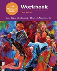 The Musician's Guide to Theory and Analysis Workbook 3rd Edition 9780393264623 0393264629