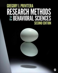 Research Methods for the Behavioral Sciences 2nd Edition 9781506326573 1506326579