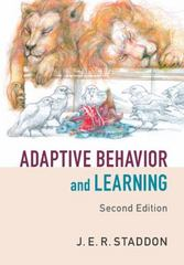 Adaptive Behavior and Learning 2nd Edition 9781107082472 1107082471