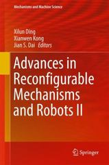 Advances in Reconfigurable Mechanisms and Robots II 1st Edition 9783319233277 3319233270