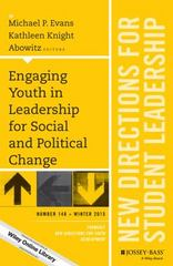 Engaging Youth in Leadership for Social and Political Change 1st Edition 9781119210672 1119210674