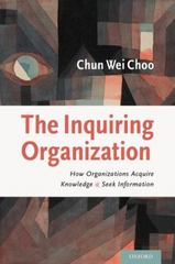 The Inquiring Organization 1st Edition 9780199782031 0199782032