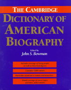 The Cambridge Dictionary of American Biography 0 9780521402583 0521402581