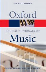 The Concise Oxford Dictionary of Music 5th edition 9780199203833 0199203830