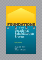 Foundations of the Vocational Rehabilitation Process 6th Edition 9781416402510 1416402519