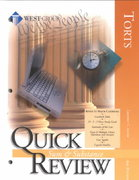 Quick Review of Torts 3rd edition 9780314242860 0314242864
