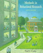 Methods in Behavioral Research 6th edition 9781559346597 1559346590