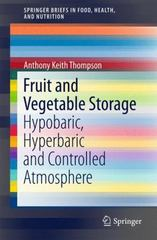 Fruit and Vegetable Storage 1st Edition 9783319235912 3319235915