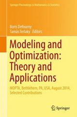 Modeling and Optimization: Theory and Applications 1st Edition 9783319236995 3319236997